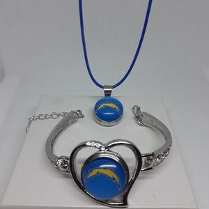 Jewelry - Los Angeles Chargers Bracelet and Necklace set